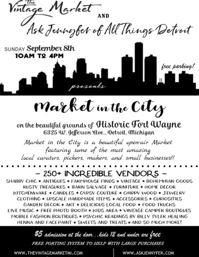 The Vintage Market 2019 Market in the City Flyer